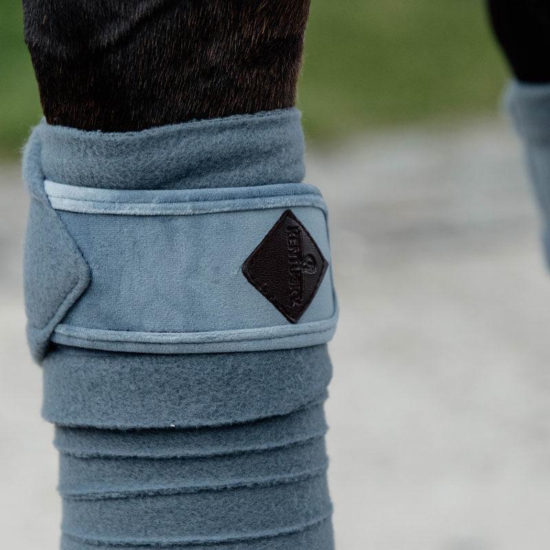 Velvet Polar Fleece Bandages Light Blue 1
