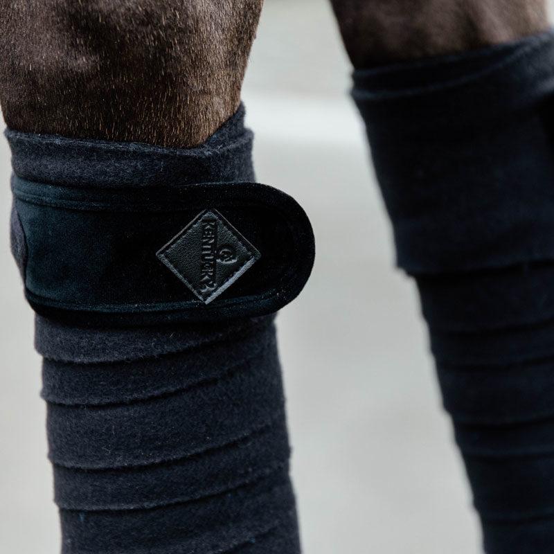 Polar Fleece Basic Velvet Bandages Black