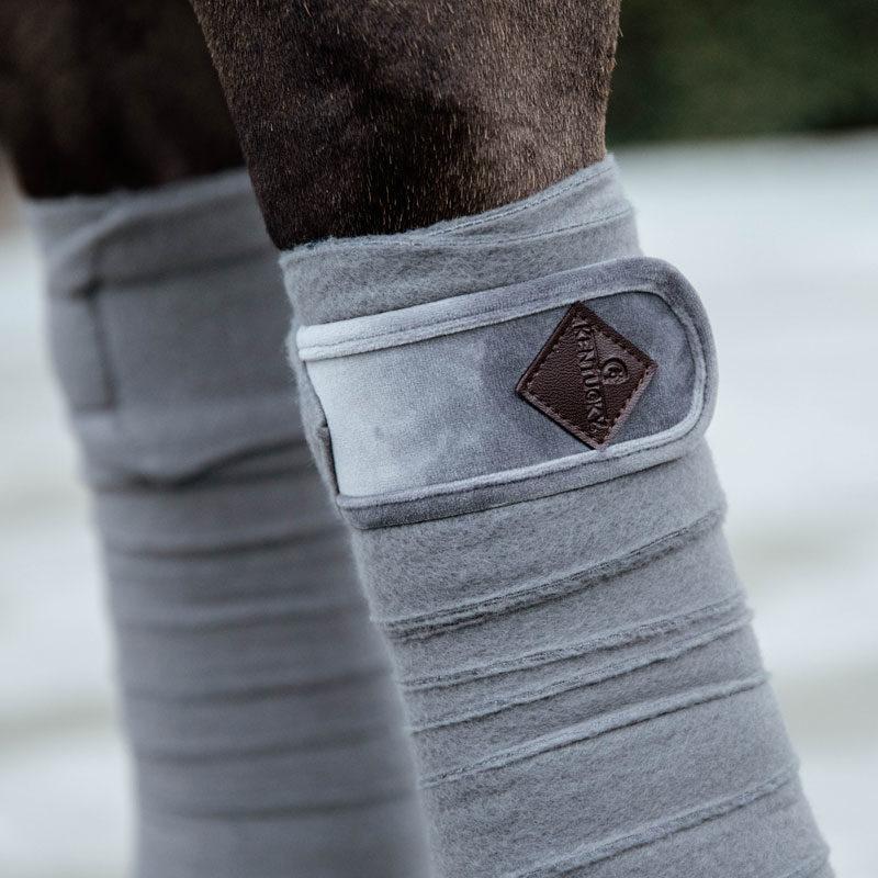 Polar Fleece Basic Velvet Bandages Grey