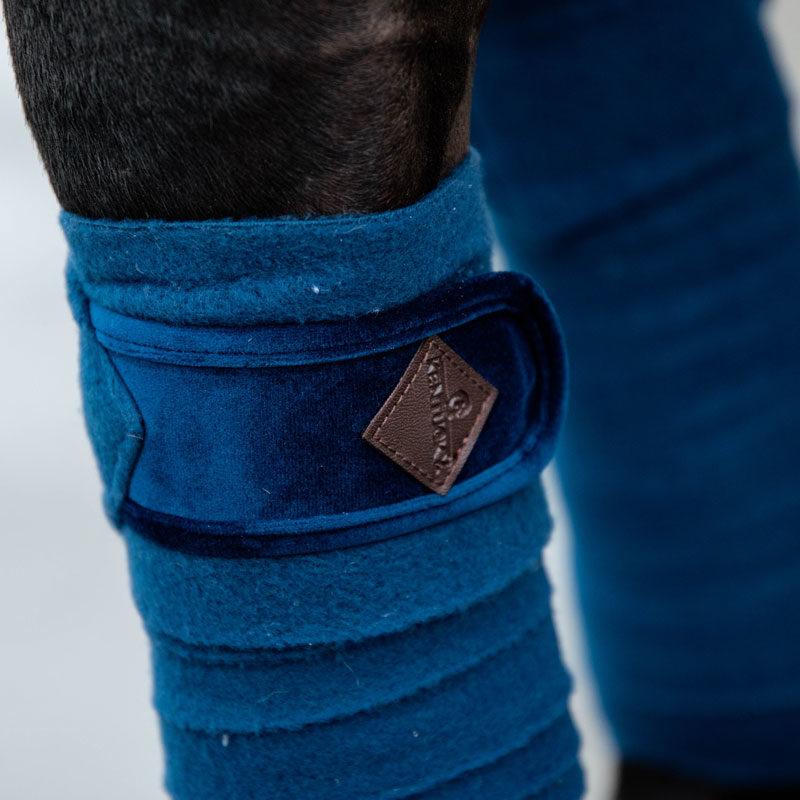 Polar Fleece Basic Velvet Bandages Navy