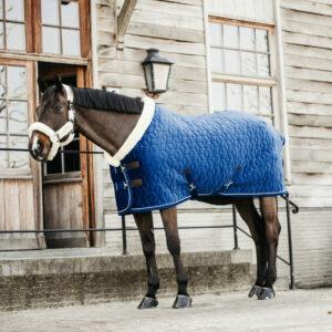 Kentucky Horsewear Velvet Show Rug Navy